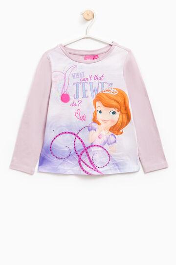 Sofia the First print T-shirt, Lilac, hi-res