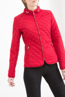 Quilted jacket with pockets, Red, hi-res