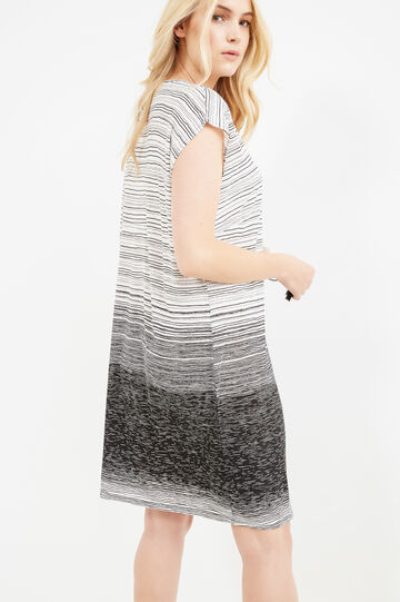 Curvy dress with all-over stripes print, Black, hi-res