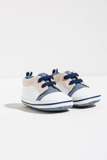 Sneakers bicolore con lacci, Multicolor, hi-res