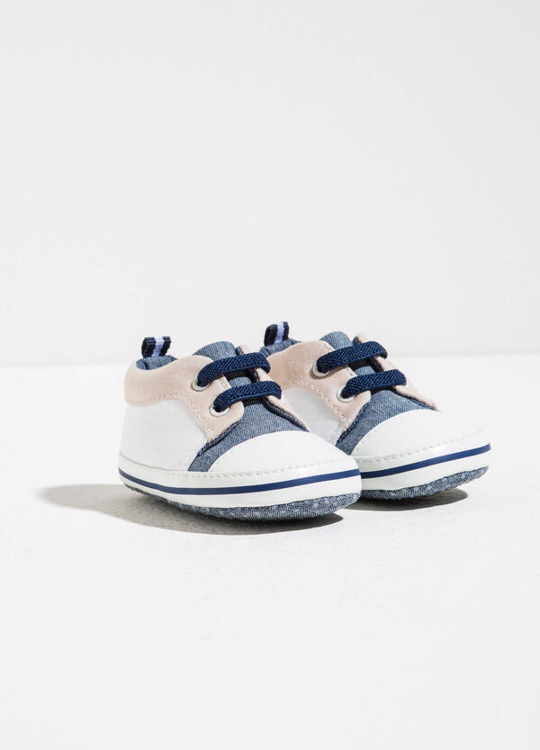 Two-tone sneakers with laces | OVS