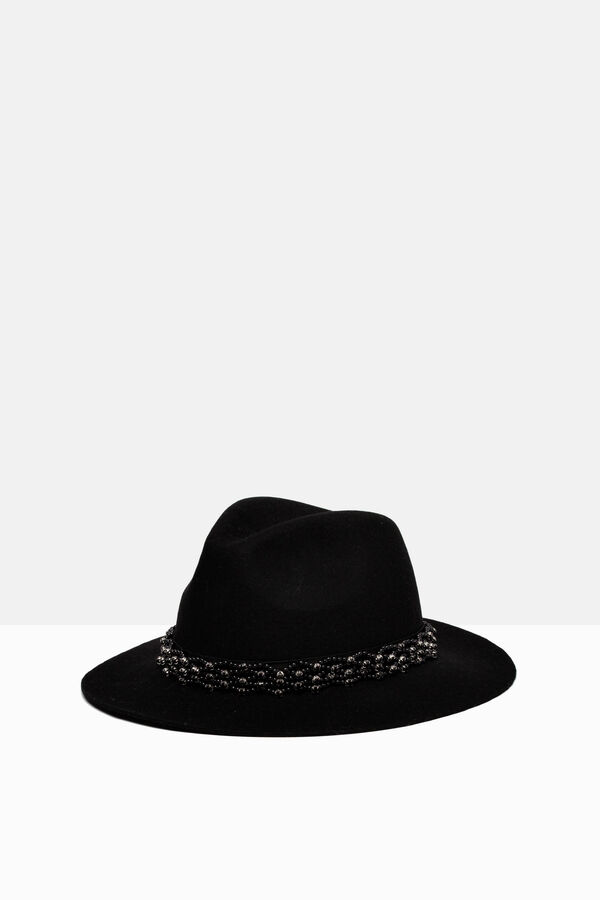Solid colour beaded hat | OVS