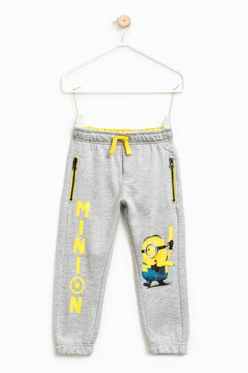 Pantaloni tuta con stampa Minions, Grigio, hi-res