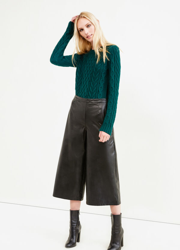 Pantaloni gaucho similpelle | OVS
