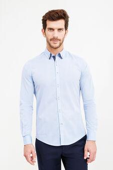 Camicia formale slim fit doppio collo button down, Blu chiaro, hi-res
