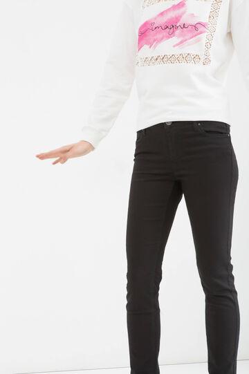 Pantaloni push up stretch, Nero, hi-res