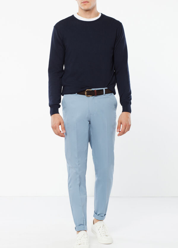 Cotton trousers with crease | OVS