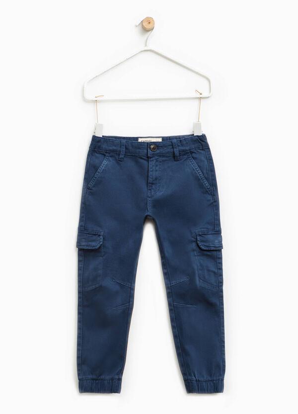 Pantaloni chino cargo in cotone stretch | OVS