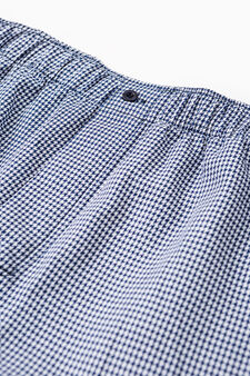 Patterned boxer shorts with elasticated waistband, White/Light Blue, hi-res