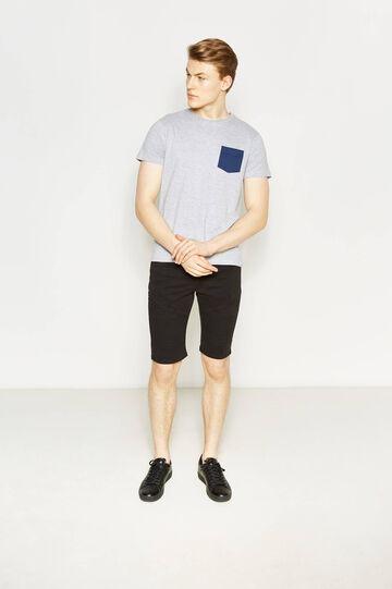 Skinny-fit denim Bermuda shorts, Black, hi-res