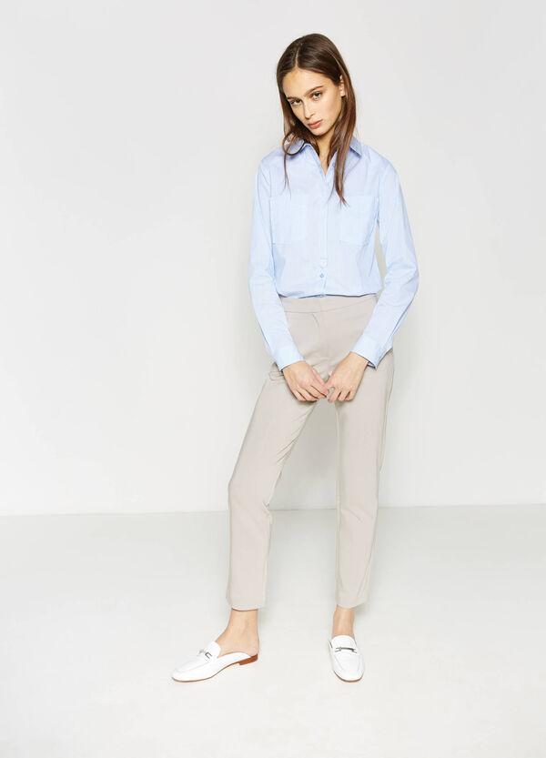 Pantaloniin cotone stretch tinta unita | OVS