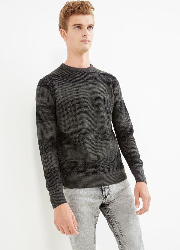 Pullover a righe lavorato tricot   OVS