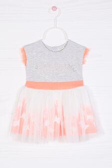 Vestitino smanicato cotone stretch, Multicolor, hi-res