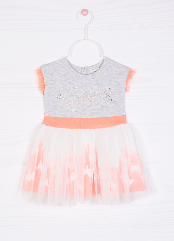 Stretch cotton sleeveless dress. | OVS