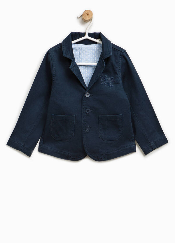 Stretch cotton jacket with three-button fastening | OVS