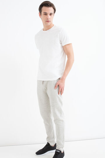 Stretch fleece joggers with drawstring