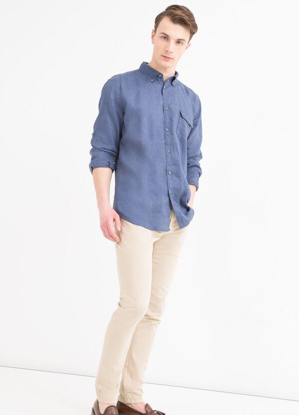 Camicia puro lino button down   OVS