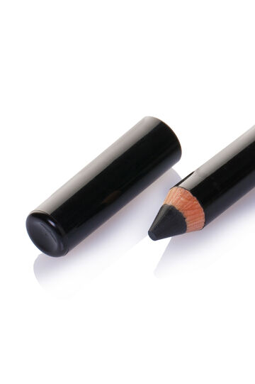 Shiny effect maxi kajal, Black, hi-res