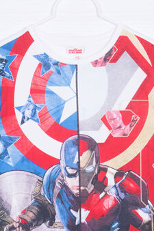 Marvel printed T-shirt in 100% cotton, White, hi-res