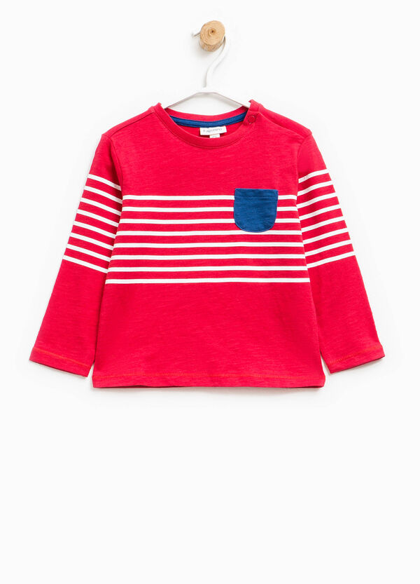 T-shirt with striped print | OVS