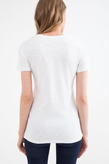 T-shirt puro cotone stampata, Bianco latte, hi-res