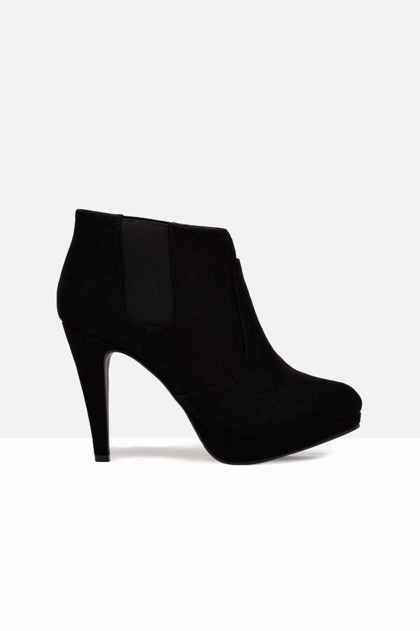 Suede look ankle boots with platform | OVS