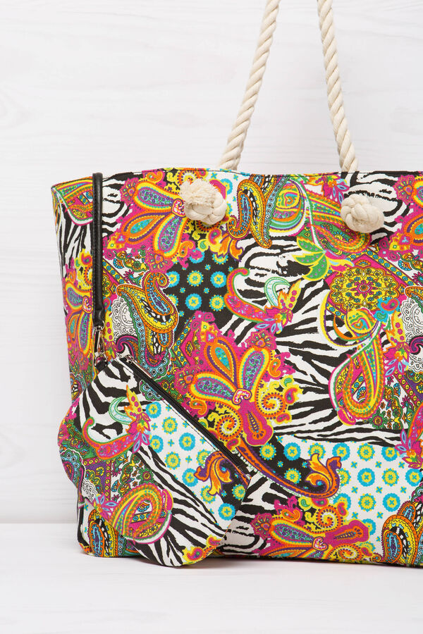 Patterned bag with rope handles | OVS