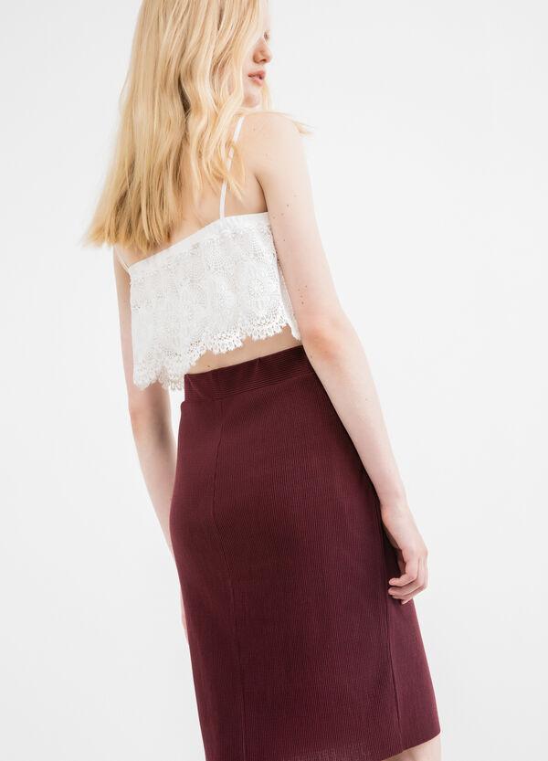 High-waisted pencil skirt | OVS