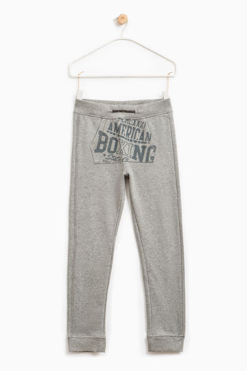 Joggers with pouch pocket, Grey Marl, hi-res