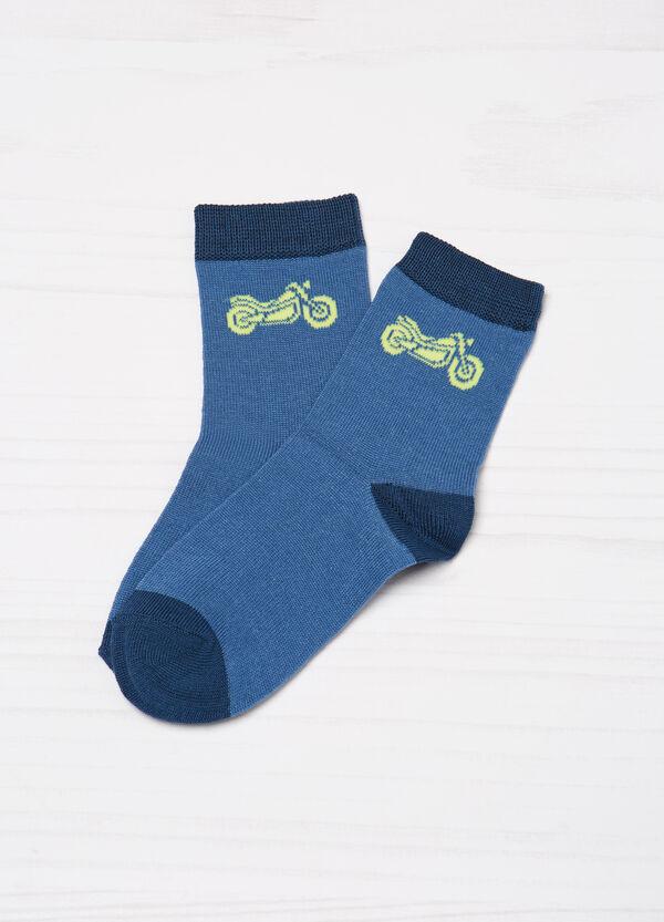 Three-pair pack of printed socks | OVS