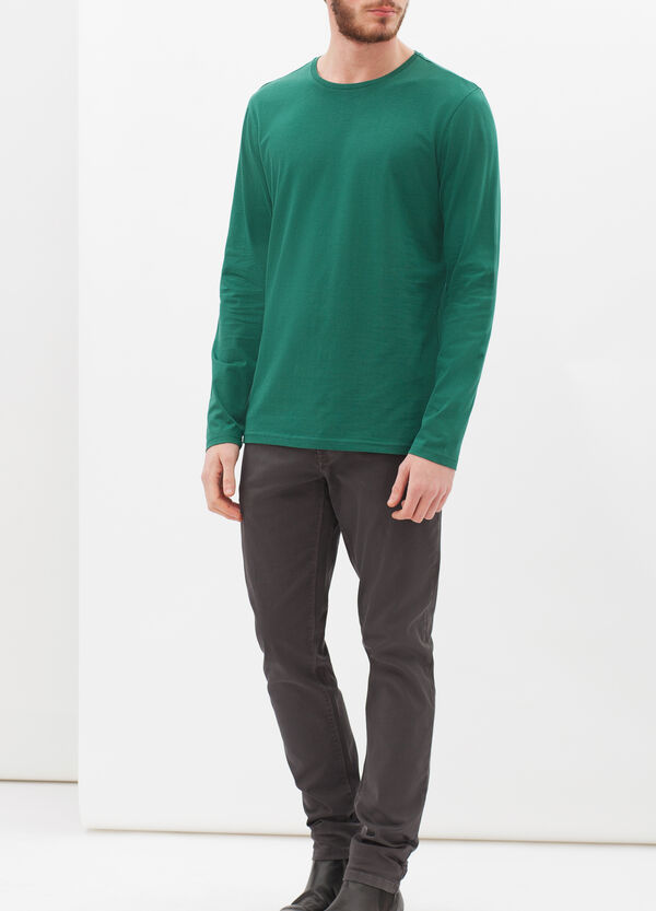 T-shirt tinta unita a maniche lunghe | OVS