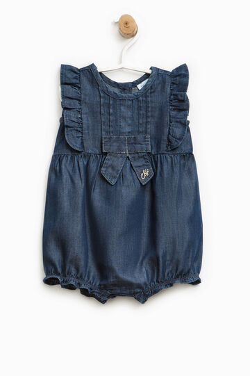 Romper suit with pleating