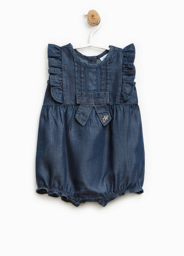 Romper suit with pleating | OVS