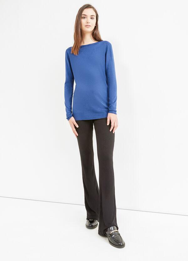 Pullover tricot scollo a barchetta | OVS
