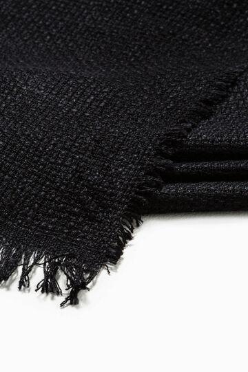 Sciarpa in pura viscosa tricot, Nero, hi-res