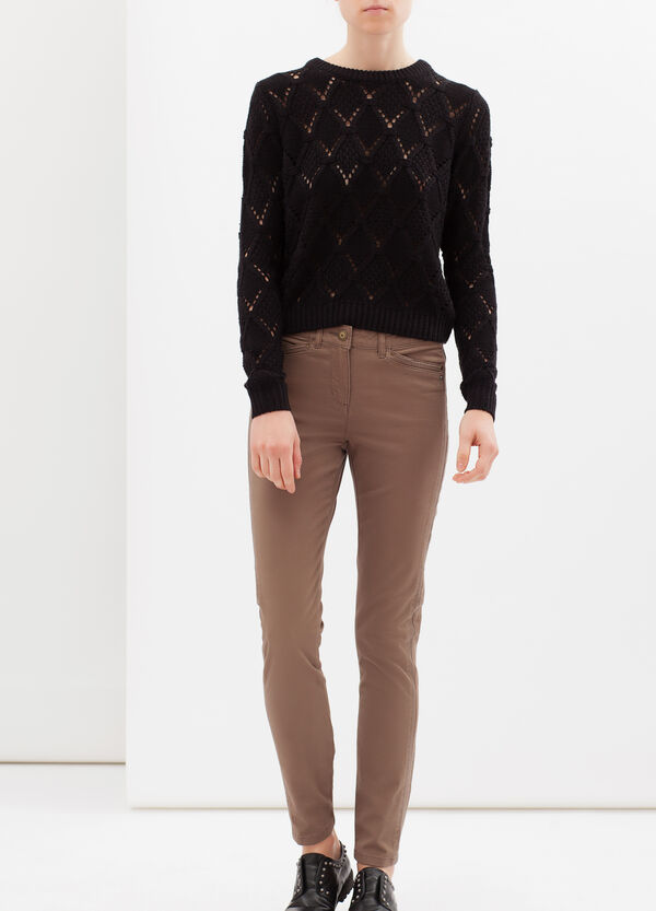 Pantaloni in cotone stretch regular fit   OVS