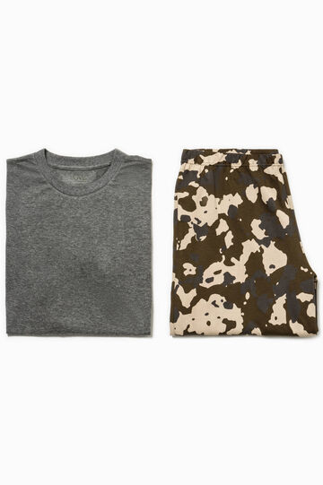 Camouflage top and Bermuda shorts pyjama set