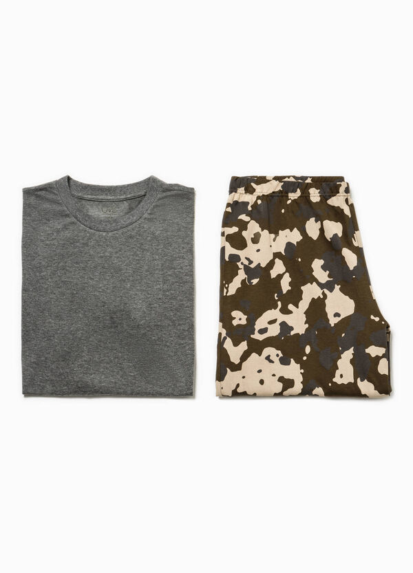 Camouflage top and Bermuda shorts pyjama set | OVS