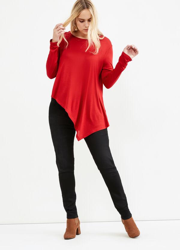 T-shirt fondo asimmetrico Curvy | OVS