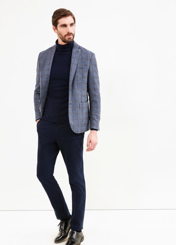 Rumford tartan wool and cashmere jacket | OVS