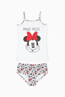 Underwear set with Minnie Mouse print, White, hi-res