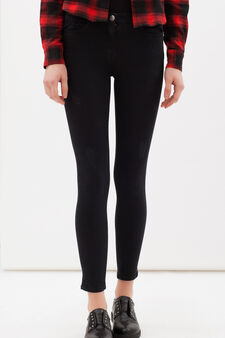 Plain stretch trousers, Black, hi-res