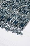 Jacquard scarf in 100% viscose., White/Blue, hi-res