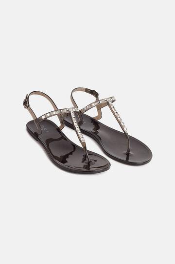 Jewel sandals, Black, hi-res