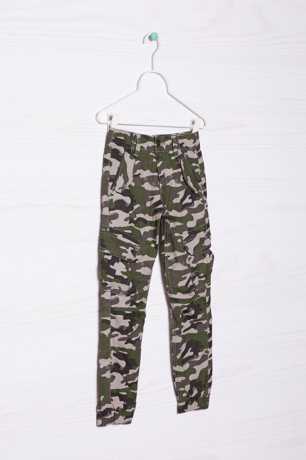 Cotton joggers with camouflage details | OVS
