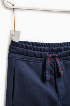Joggers with elasticated waist and ankle cuffs, Blue, hi-res