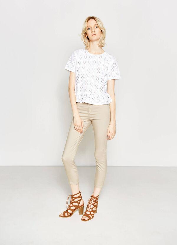 Pantalón de talle alto en algodón elástico | OVS
