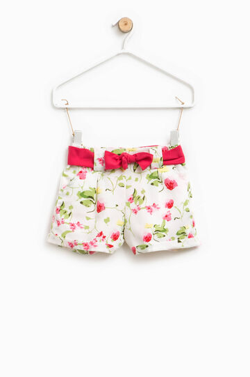 Floral pattern shorts with belt