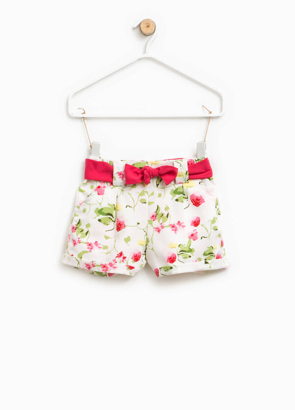 Floral pattern shorts with belt | OVS
