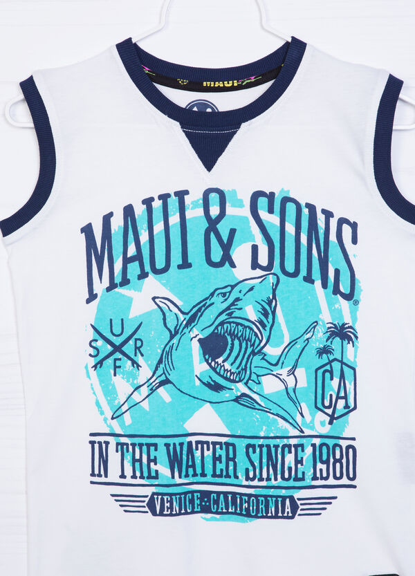 Cotton vest by Maui and Sons | OVS